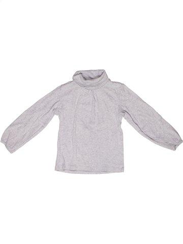Camiseta de cuello alto niña LA REDOUTE CRÉATION blanco 3 años invierno #1244839_1