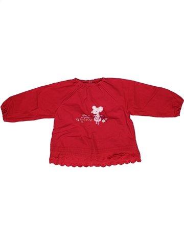 Blouse manches longues fille SUCRE D'ORGE rouge 2 ans hiver #1245155_1