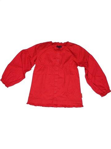 Blouse manches longues fille TERRE DE MARINS rouge 6 ans hiver #1245311_1