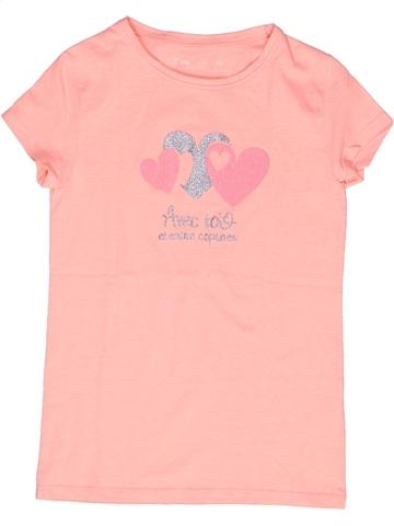 T-shirt manches courtes fille GEMO rose 10 ans été #1245811_1