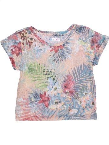 T-shirt manches courtes fille M&CO gris 9 ans été #1248365_1