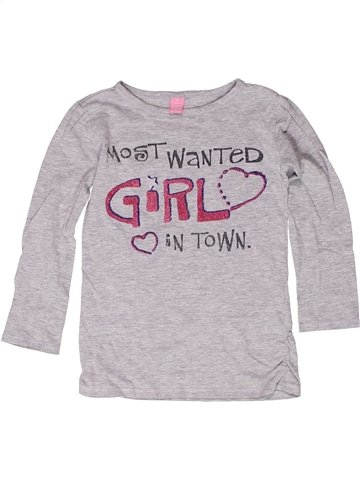 T-shirt manches longues fille DOPODOPO gris 6 ans hiver #1249393_1