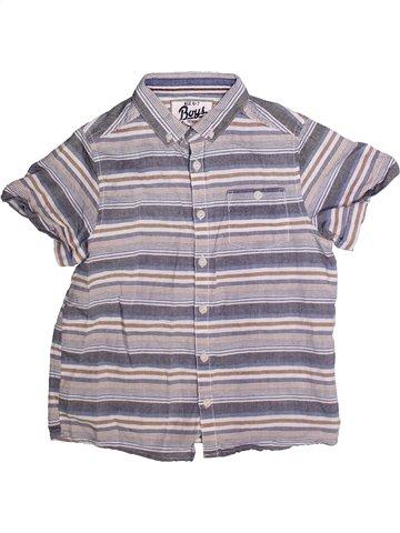 Chemise manches courtes garçon MATALAN violet 7 ans été #1249711_1