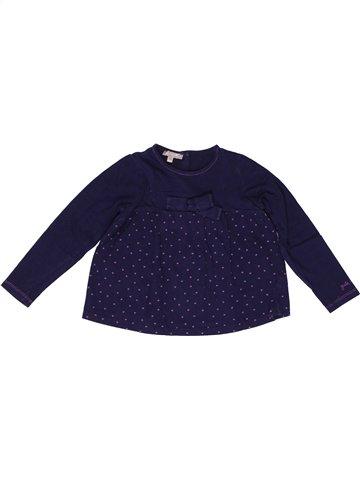 T-shirt manches longues fille GRAIN DE BLÉ bleu 4 ans hiver #1250109_1