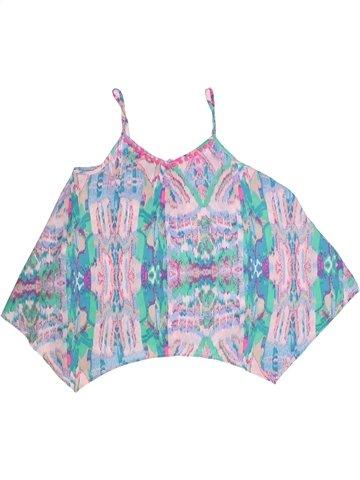 Blusa de manga corta niña KYLIE azul 13 años verano #1250542_1