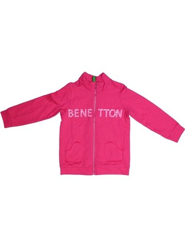 Sweat fille BENETTON rose 2 ans hiver #1250964_1