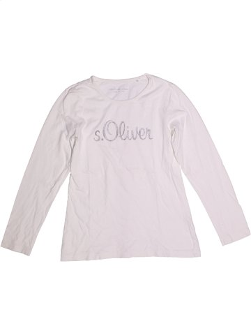 T-shirt manches longues fille S.OLIVER blanc 12 ans hiver #1251412_1
