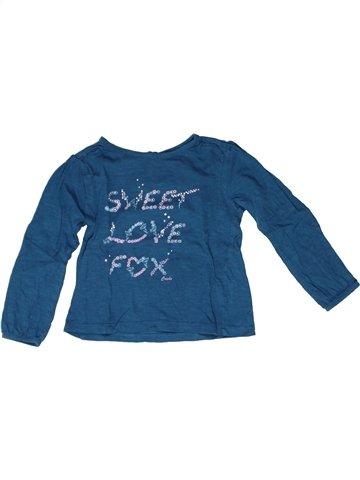 T-shirt manches longues fille CREEKS bleu 2 ans hiver #1252622_1