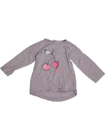 Camiseta de manga larga niña LA REDOUTE CRÉATION gris 2 años invierno #1252929_1