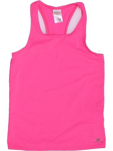 Camiseta sin mangas niña DÉCATHLON rosa 8 años verano #1252965_1
