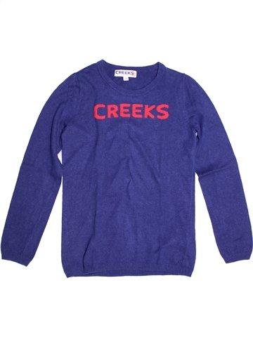 Pull fille CREEKS violet 14 ans hiver #1255669_1