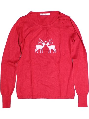 Pull fille CFK rouge 14 ans hiver #1255674_1