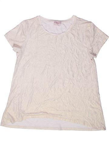 T-shirt manches courtes fille KYLIE blanc 13 ans été #1256196_1