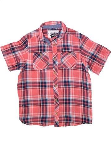 Chemise manches courtes garçon MATALAN rose 9 ans été #1256353_1