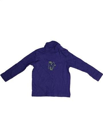 T-shirt col roulé fille IMPIDIMPI bleu 3 ans hiver #1257892_1