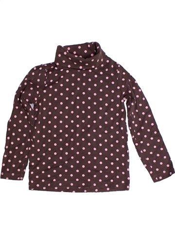 T-shirt col roulé fille LUPILU marron 6 ans hiver #1258561_1