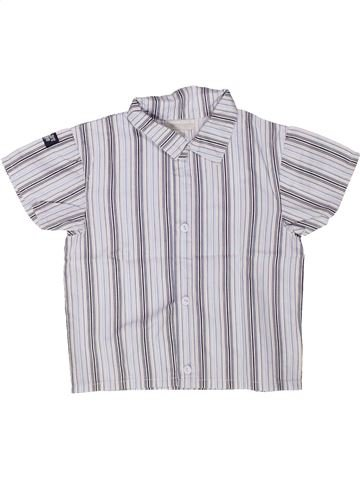 Chemise manches courtes garçon KIMBALOO blanc 2 ans été #1258568_1