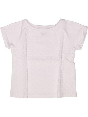 Camiseta de manga corta niña CYRILLUS blanco 6 años verano #1259154_1