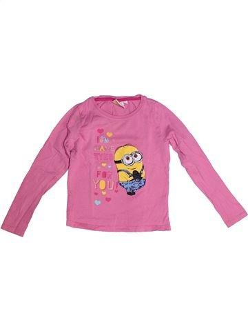 T-shirt manches longues fille LES MINIONS rose 6 ans hiver #1259974_1