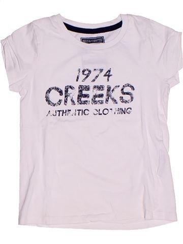 T-shirt manches courtes fille CREEKS blanc 6 ans été #1260402_1
