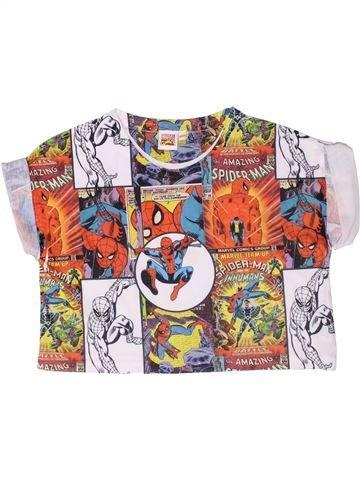T-shirt manches courtes fille SUPERS HÉROS marron 11 ans été #1261558_1