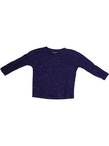 Camiseta de manga larga niña MONOPRIX azul 4 años invierno #1262030_1
