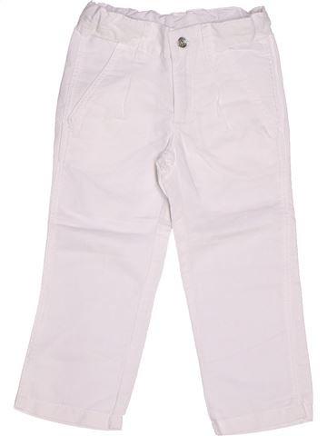 Pantalon fille 3 POMMES blanc 3 ans été #1262098_1