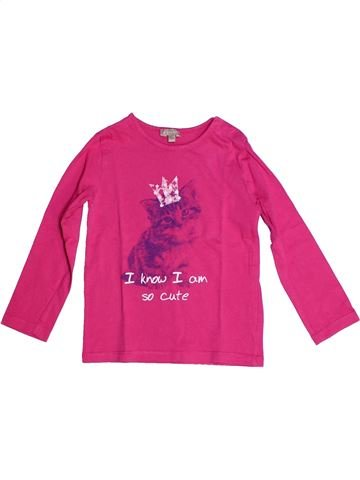 T-shirt manches longues fille GRAIN DE BLÉ rose 3 ans hiver #1262836_1