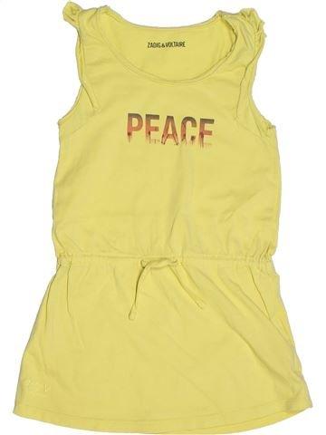 Robe fille ZADIG ET VOLTAIRE jaune 6 ans été #1263181_1