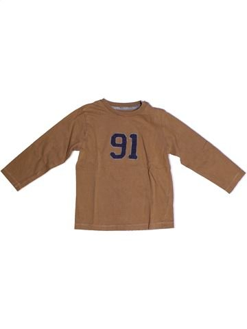 Camiseta de manga larga niño BOUT'CHOU marrón 3 años invierno #1263899_1
