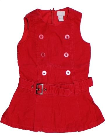 Robe fille CYRILLUS rouge 3 ans hiver #1263975_1