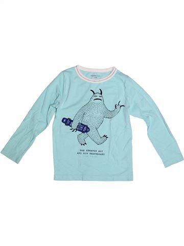 Camiseta de manga larga niño MONOPRIX azul 5 años invierno #1264952_1