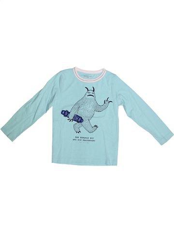 T-shirt manches longues garçon MONOPRIX bleu 5 ans hiver #1264953_1