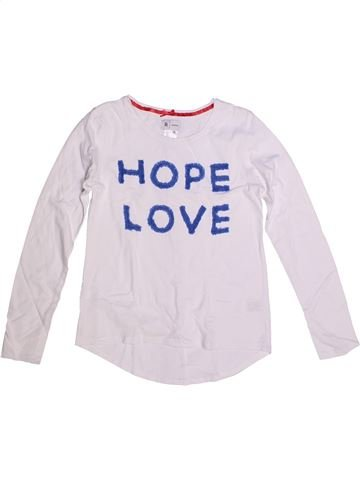 Camiseta de manga larga niña LA REDOUTE CRÉATION blanco 10 años invierno #1265027_1