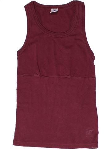 T-shirt sans manches fille PETIT BATEAU violet 12 ans été #1267108_1