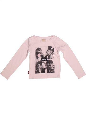 T-shirt manches longues fille LEVI'S rose 3 ans hiver #1267446_1