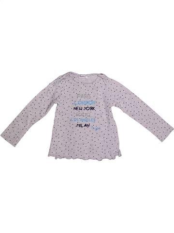 T-shirt manches longues fille 3 POMMES gris 3 ans hiver #1267458_1
