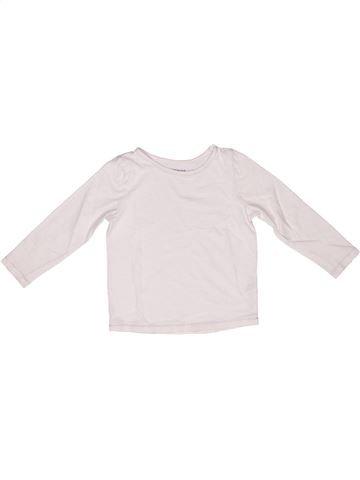 Camiseta de manga larga niña MONOPRIX blanco 3 años invierno #1268050_1
