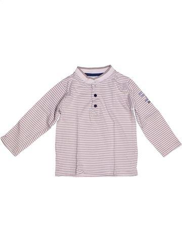 T-shirt manches longues garçon OKAIDI blanc 2 ans hiver #1268211_1