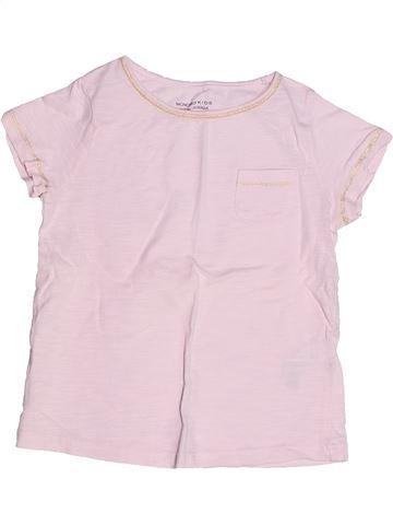 T-shirt manches courtes fille MONOPRIX rose 4 ans été #1268739_1