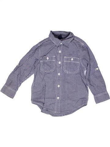 Chemise manches longues garçon GAP bleu 4 ans hiver #1269251_1