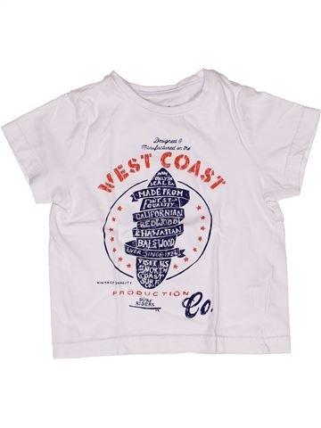 T-shirt manches courtes garçon ORCHESTRA blanc 2 ans été #1269260_1