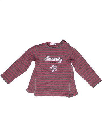 T-shirt manches longues fille 3 POMMES violet 2 ans hiver #1269307_1
