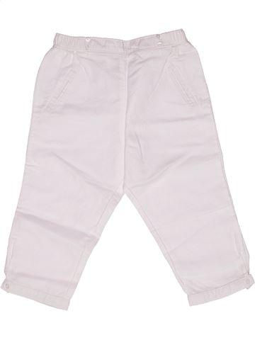 Pantalón corto niña CYRILLUS blanco 2 años verano #1269331_1