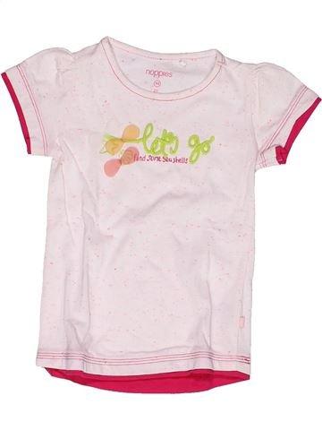 T-shirt manches courtes fille NOPPIES rose 3 ans été #1269343_1
