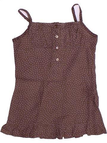 Blusa de manga corta niña TOUT COMPTE FAIT marrón 5 años verano #1269359_1