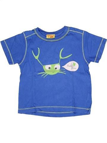 T-shirt manches courtes garçon DPAM bleu 5 ans été #1269515_1