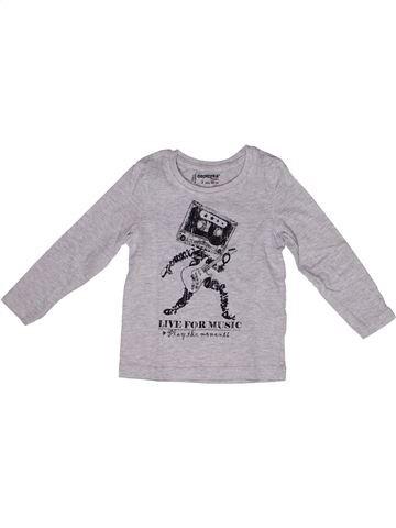 T-shirt manches longues garçon ORCHESTRA gris 2 ans hiver #1269748_1