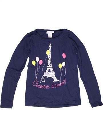 T-shirt manches longues fille LA REDOUTE CRÉATION bleu 11 ans hiver #1269812_1