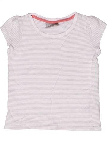 T-shirt manches courtes fille MATALAN blanc 3 ans été #1269814_1